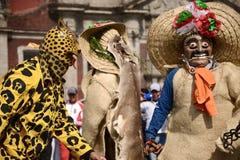 Πόλη του Μεξικού, Μεξικό 9 Δεκεμβρίου 2018: Οι προσκυνητές γιορτάζουν τους εορτασμούς στη βασιλική του Guadalupe στοκ φωτογραφία με δικαίωμα ελεύθερης χρήσης