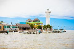Πόλη του Ρίο Lagartos Yucatan, Μεξικό Στοκ Εικόνες