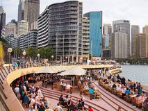 Πόλη του Σίδνεϊ, άποψη από τη Όπερα, Αυστραλία Στοκ Εικόνα