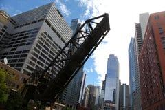 Πόλη του Σικάγου στη λίμνη Μίτσιγκαν στοκ φωτογραφίες
