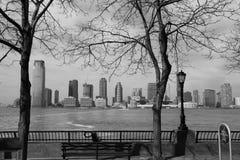 Πόλη του Τζέρσεϋ μονοχρωματική, Νέα Υόρκη Στοκ φωτογραφία με δικαίωμα ελεύθερης χρήσης