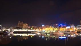 Πόλη του Χόμπαρτ στη νύχτα στοκ εικόνες