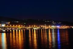 Πόλη του Sochi τη νύχτα Στοκ Εικόνα