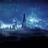 πόλη υποβρύχια διανυσματική απεικόνιση