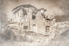 Πόλη-φάντασμα μετά από το σεισμό Norcia, Ιταλία στοκ φωτογραφία με δικαίωμα ελεύθερης χρήσης