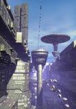 πόλη φουτουριστική Στοκ Εικόνες