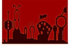 πόλη φουτουριστική ελεύθερη απεικόνιση δικαιώματος