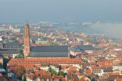 πόλη Χαϋδελβέργη εκκλησιών jesuits στοκ εικόνα με δικαίωμα ελεύθερης χρήσης