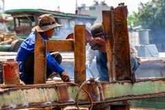 Πόλη Χο Τσι Μινχ οξυγονοκολλητών στοκ εικόνα