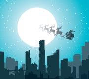 πόλη Χριστουγέννων Στοκ Εικόνες