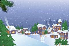 Πόλη Χριστουγέννων Στοκ Φωτογραφίες
