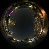πόλη όψης νύχτας Στοκ Εικόνες