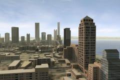 πόλη 100 φανταστική ελεύθερη απεικόνιση δικαιώματος