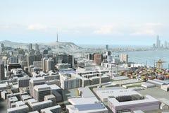 πόλη 120 φανταστική απεικόνιση αποθεμάτων
