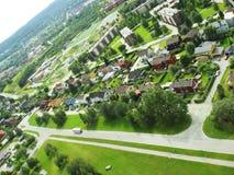 πόλη 2 σπιτιών Στοκ εικόνες με δικαίωμα ελεύθερης χρήσης