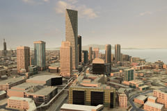 πόλη 62 φανταστική διανυσματική απεικόνιση