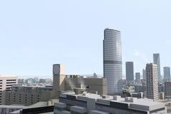 πόλη 70 φανταστική διανυσματική απεικόνιση