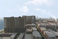 πόλη 85 φανταστική απεικόνιση αποθεμάτων