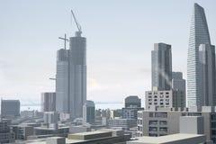 πόλη 96 φανταστική ελεύθερη απεικόνιση δικαιώματος