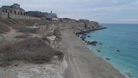 Πόλη Aktau θαλασσίως απόθεμα βίντεο