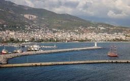 Πόλη Alanya σε Antalya, Τουρκία Στοκ Εικόνες