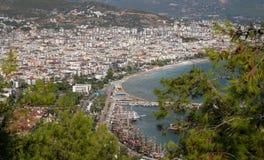 Πόλη Alanya σε Antalya, Τουρκία Στοκ φωτογραφία με δικαίωμα ελεύθερης χρήσης