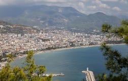 Πόλη Alanya σε Antalya, Τουρκία Στοκ Φωτογραφία