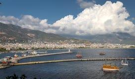 Πόλη Alanya σε Antalya, Τουρκία Στοκ εικόνες με δικαίωμα ελεύθερης χρήσης