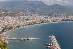Πόλη Alanya σε Antalya, Τουρκία Στοκ Εικόνα