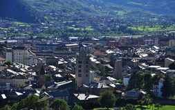 Πόλη Aosta, Ιταλία. γενική όψη Στοκ φωτογραφία με δικαίωμα ελεύθερης χρήσης