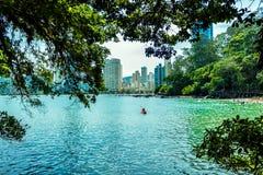 Πόλη Balneario Camboriu Santa Catarina Βραζιλία νερού Στοκ φωτογραφίες με δικαίωμα ελεύθερης χρήσης