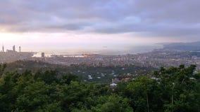 Πόλη Batumi - άποψη από τα βουνά Στοκ εικόνες με δικαίωμα ελεύθερης χρήσης