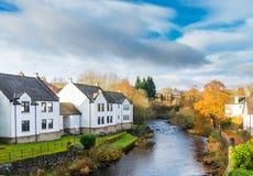 Πόλη Dunblane & νερό του Allan Στοκ Φωτογραφία