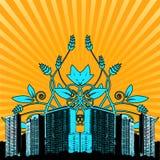 πόλη floral Διανυσματική απεικόνιση