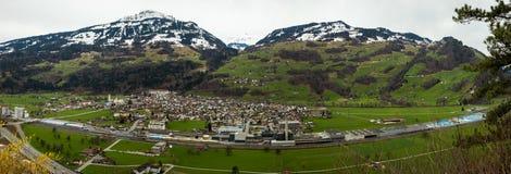 Πόλη Flums, ST Gallen, Ελβετία Στοκ Φωτογραφία
