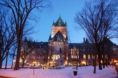 πόλη frontenac Κεμπέκ πυργων του Κ Στοκ εικόνα με δικαίωμα ελεύθερης χρήσης