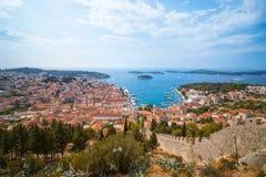 Πόλη Hvar, Δαλματία, Κροατία Στοκ Εικόνες