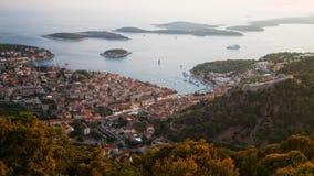 Πόλη Hvar, νησί Hvar, Δαλματία, Κροατία Στοκ Φωτογραφίες