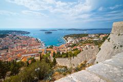 Πόλη Hvar, νησί Hvar, Δαλματία, Κροατία Στοκ φωτογραφία με δικαίωμα ελεύθερης χρήσης