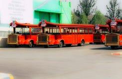 Πόλη Hyderabad ταινιών Ramoji κόλπων λεωφορείων στοκ εικόνες