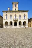 Πόλη Hystorical Sabbioneta - Ιταλία - παλάτι δουκών από το κεντρικό τετράγωνο στοκ εικόνα με δικαίωμα ελεύθερης χρήσης