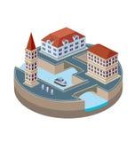 πόλη isometric Στοκ Εικόνες