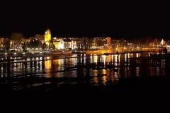 Πόλη Joensuu, βόρεια Καρελία, Φινλανδία, τοπίο νύχτας Στοκ φωτογραφία με δικαίωμα ελεύθερης χρήσης