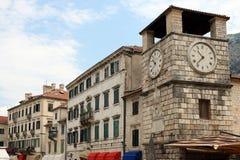 Πόλη Kotor πύργων ρολογιών στοκ εικόνες