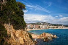 Πόλη Lloret de Mar σε Κόστα Μπράβα στην Ισπανία Στοκ φωτογραφίες με δικαίωμα ελεύθερης χρήσης