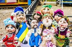 Πόλη Melitopol στις 14 Οκτωβρίου 2017 Όλος-ουκρανική έκθεση των κουκλών Στοκ Φωτογραφία