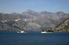 Πόλη Perast στο Μαυροβούνιο και τα νησιά του στοκ φωτογραφίες
