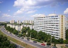 Πόλη Ploiesti, Ρουμανία, λεωφόρος Στοκ Εικόνες