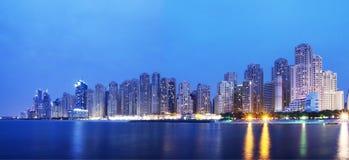 Πόλη Scape, πανόραμα του Ντουμπάι Στοκ Φωτογραφία