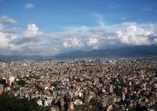 Πόλη scape της κοιλάδας του Κατμαντού Στοκ φωτογραφίες με δικαίωμα ελεύθερης χρήσης